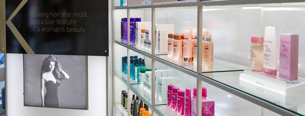 Ignite Beauty Lounge Product Shelf