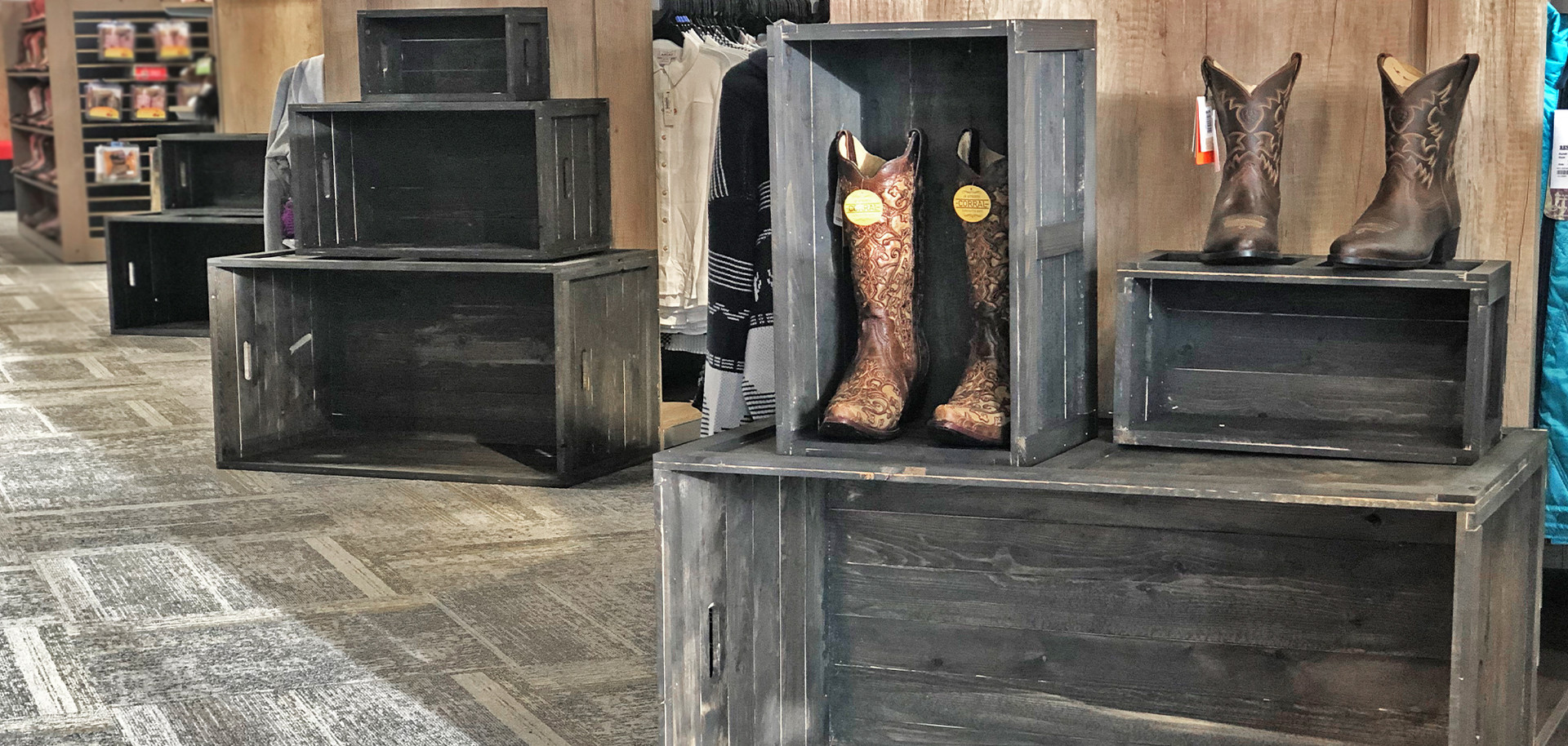 Rustic Display Crates