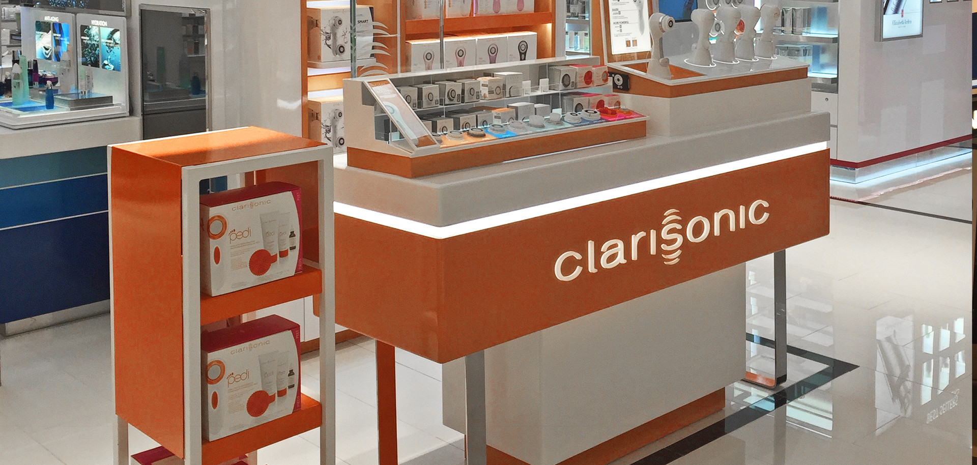 Clarisonic kiosk pop up store