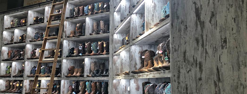 Lammle's western boot wall