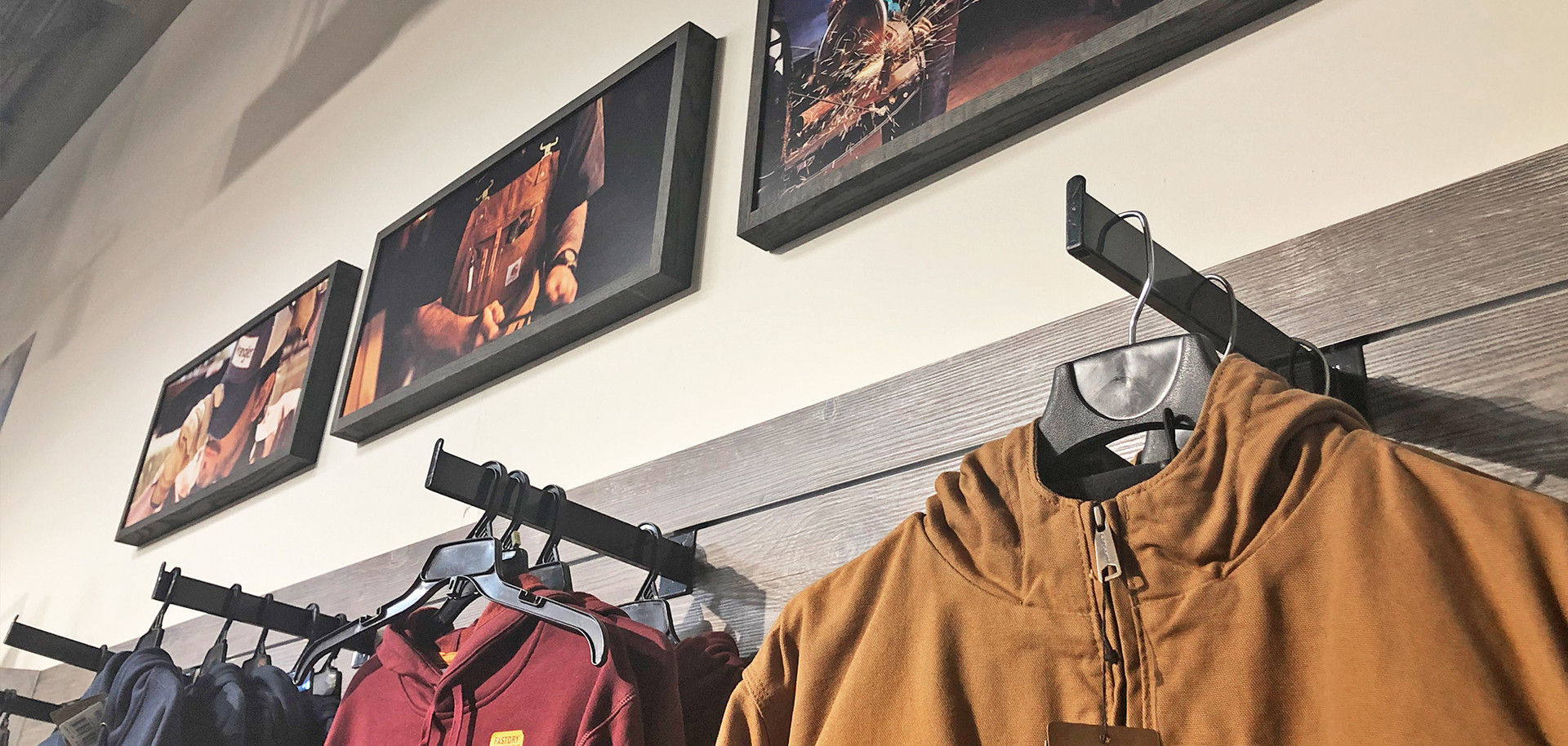 Men's work wear wall