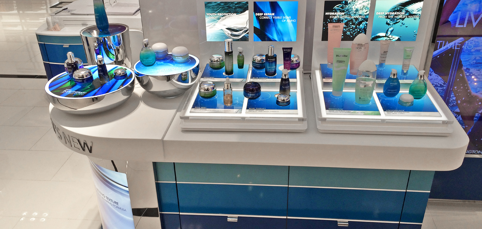Biotherm product display counter