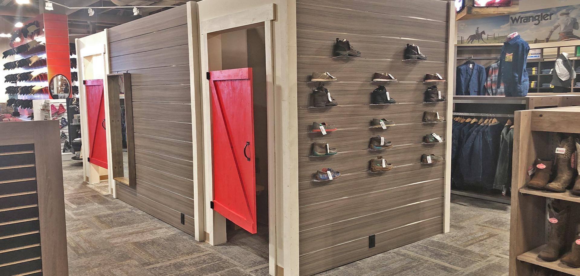 Red barn door Changerooms