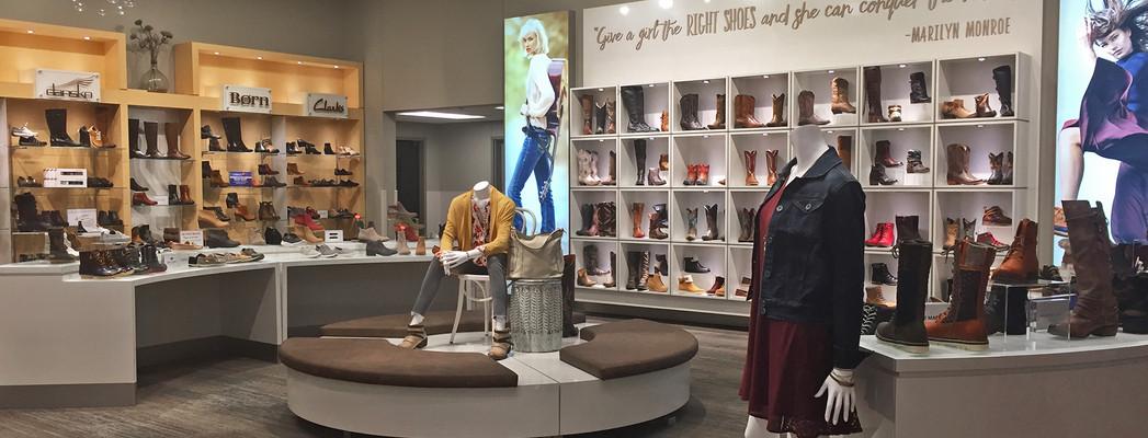Scheels women's footwear centre section