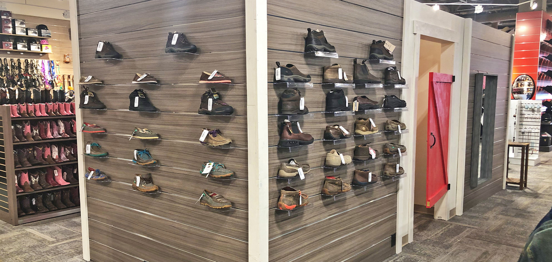 Changerooms and shoe display