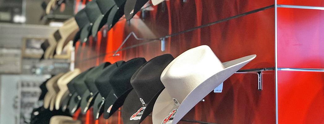 Lammle's cowboy hat wall