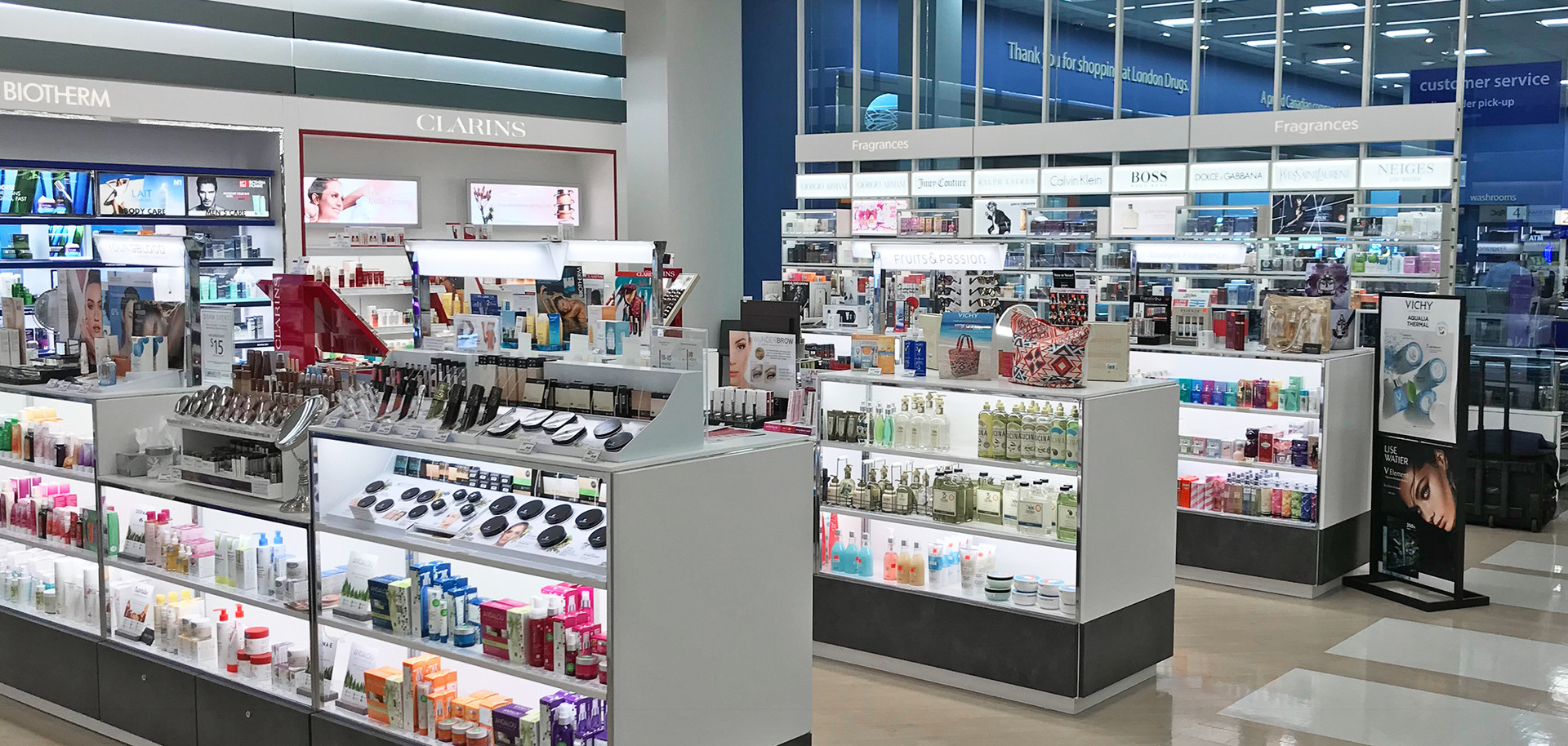 London Drugs Cosmetics Department