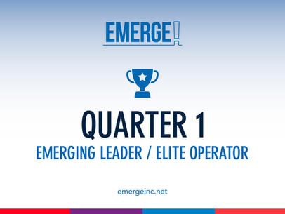 Q1 Elite Operators & Emerging Leaders