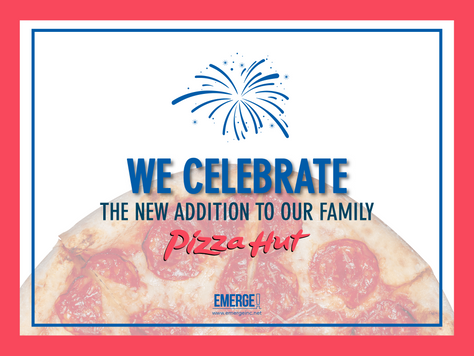 Emerge! Celebrates the New Addition to the Brand Family: Pizza Hut