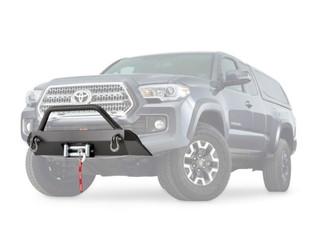 WARN: Semi-Hidden Winch Mount Front Bumper Kit For `16-`20 Toyota Tacoma