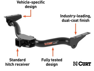 CURT First-to-Market Class 3 Trailer Hitch for 2021 Hyundai and Kia SUVs