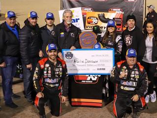 DEEGAN WINS NASCAR K&N WEST OPENER AT LAS VEGAS DIRT TRACK