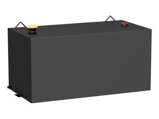 UWS Rectangular Steel Transfer Tank (100 gal., Matte Black)
