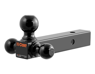 """CURT Multi-Ball Mount (2"""" Hollow-Shank with 1-7/8"""", 2"""", 2-5/6"""" Balls)"""