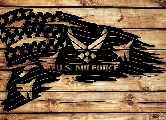 U.S. Air Force Tattered U.S.A Flag