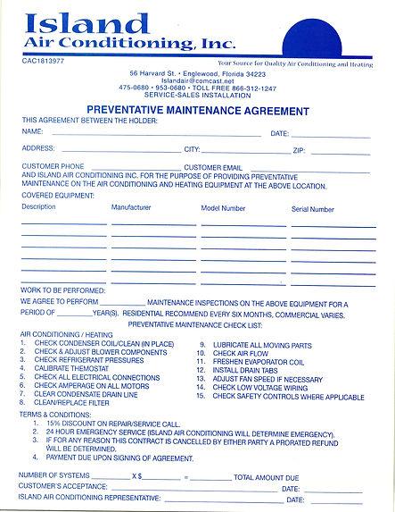 yearly Maintenance Agreement