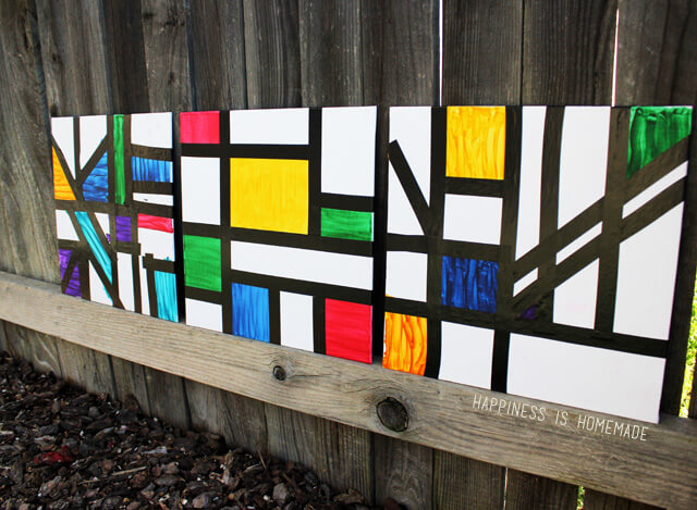 Piet-Mondrian-Inspired-Kids-Abstract-Art-Lesson