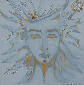 Peinture spirituelle de l'état de conscience