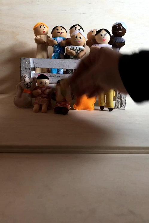 Famílias Pedagógicas - bonecos - unidade