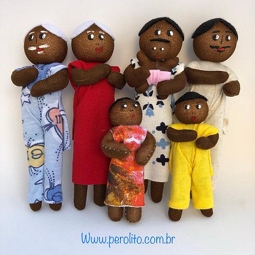 Família Ludoterapêutica - negra - 7 personaagens