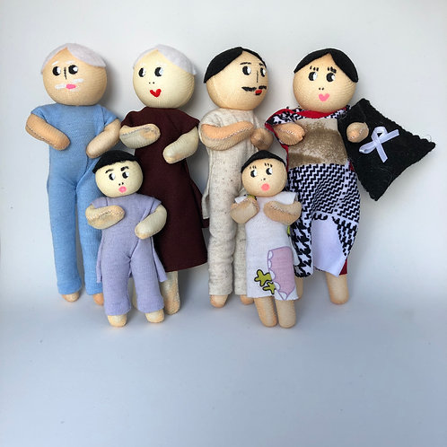Família Ludoterapêutica- Mamãe Grávida - branca