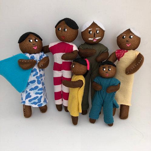 Família Ludoterapêutica -Mamãe Grávida- Negra