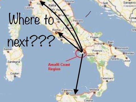 So Excited about the Amalfi Coast ........ now where to next