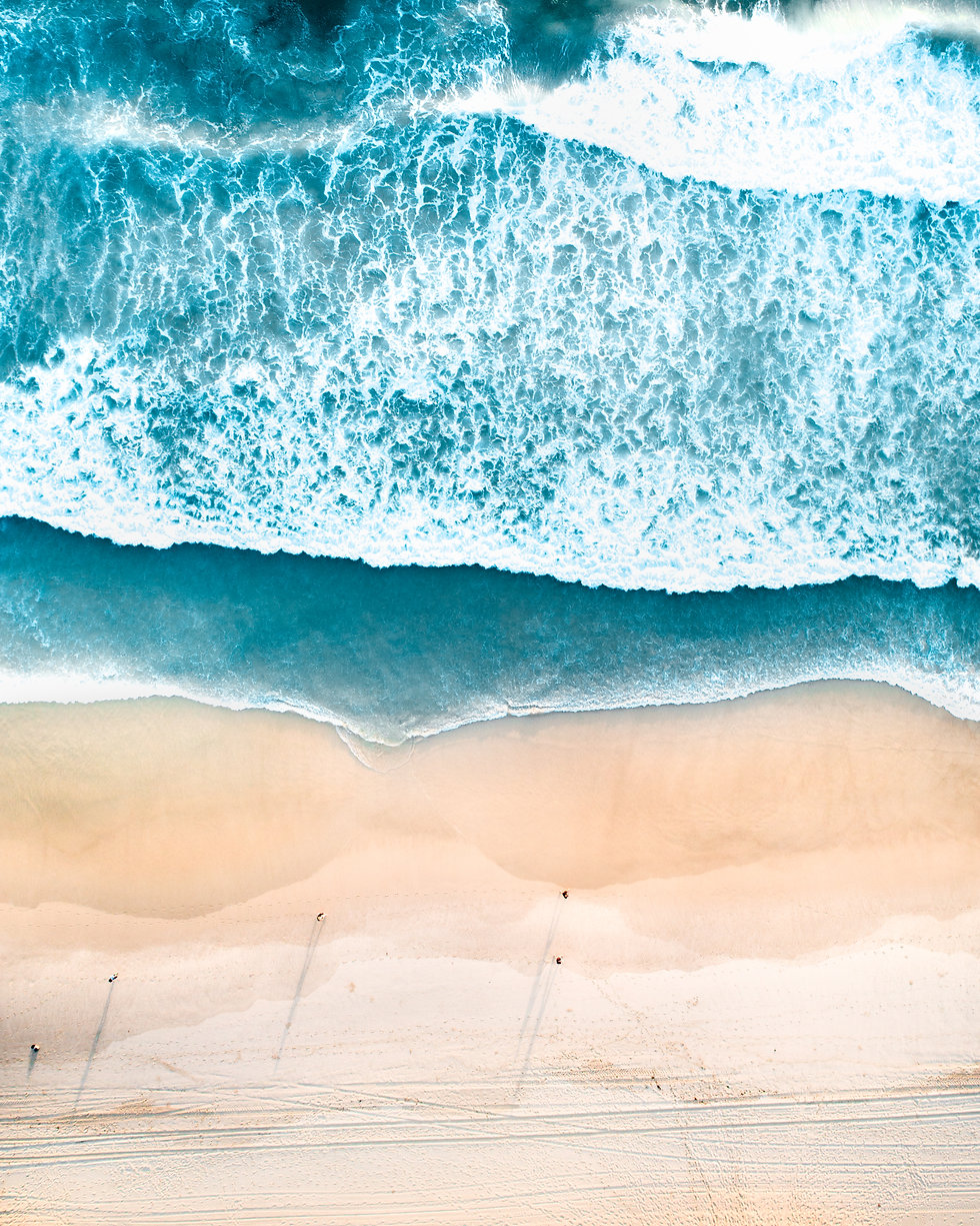 Drone shots of beautiful beaches in Aust
