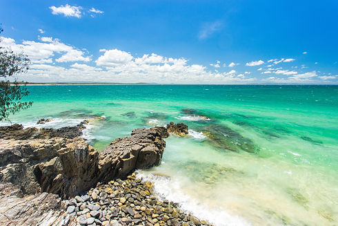 The incredible blue water of Noosa National park on Queensland's Sunshine Coast, Australia