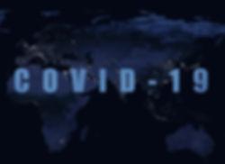 Coronavirus pandemic, word COVID-19 on n