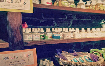 Our own Lotus & Lily product line is available for service and sale in our spa & Blue Lotus Shop.