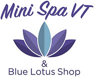 Mini Spa VT and Blue Lotus Shop logo icon.