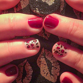 Cat print nail art spa add-on at Mini Spa VT and Blue Lotus Shop
