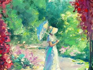 """Картина """"Сад через арку с розами""""."""