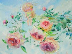 """Новая картина """"Ангел благоухающих роз""""."""