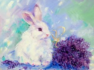 """Новая картина """"Лавандовый кролик""""."""