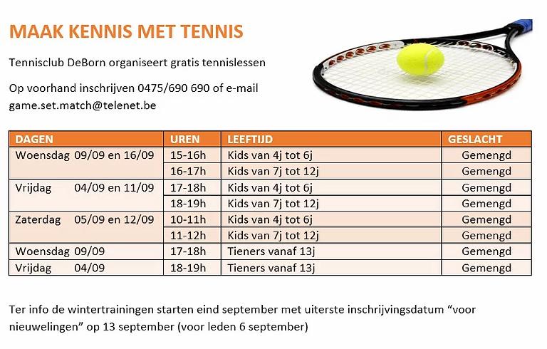 Tennis les sint-truiden De Born