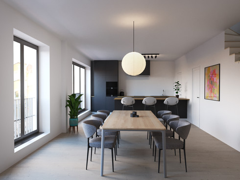 3D interior visual for residential project.