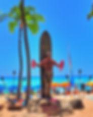 Waikiki Statue from Hawaii Hoverboarding Tours Aloha Tour