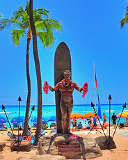 Waikiki Statue from Hawaii Hoverboarding Tours Aloha Tour