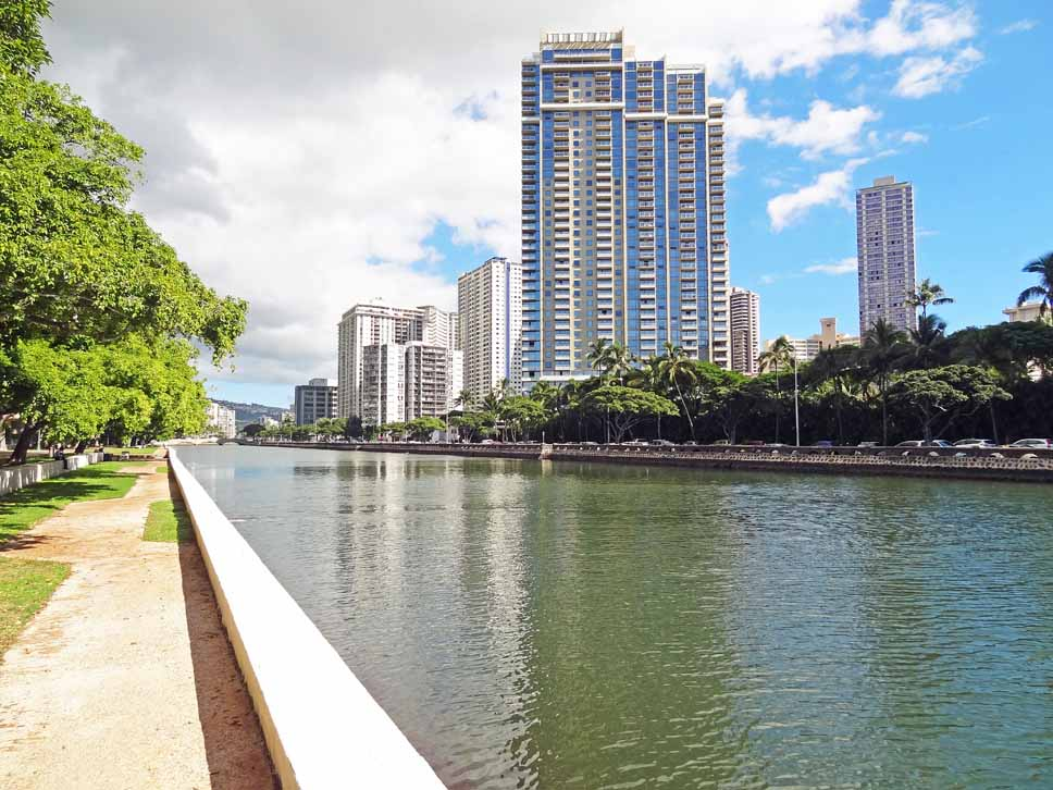 Views along the Ala Wai Canal
