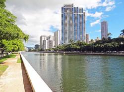 Views along the Ala Wai Canal