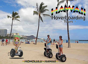Sand, surf, and hoverboarding