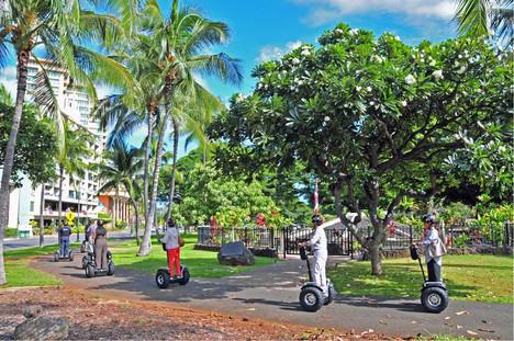 Hoverboarding in Waikiki