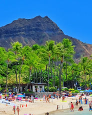 View of Diamond Head along Waikiki Wiki Tour. Hawaii Hoveboarding Tours