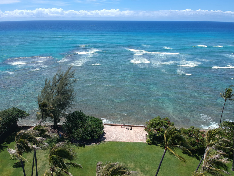 Waikiki's Secluded Beach Park from Above