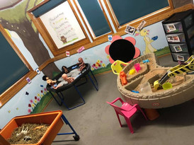Messy play area