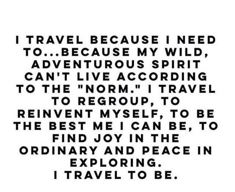 Reinvent oneself while in travel