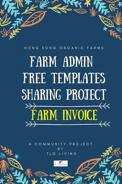 Free Template: Farm Invoice (Chi & Eng)