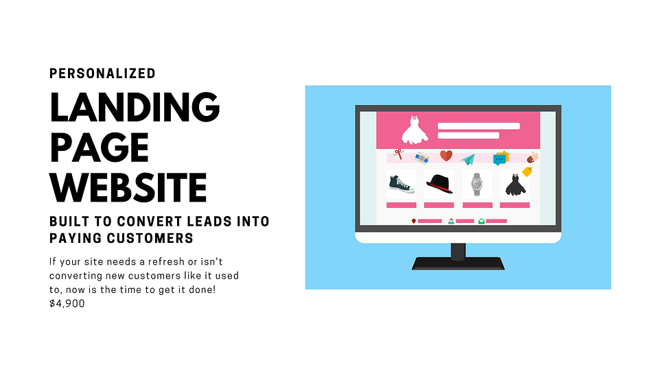 We Build Your Landing Page Website to Capture Leads